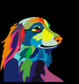 colorful dog vector image