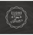 Cute Love Label vector image