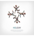 holiday people sign 3d vector image