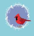 northern cardinal vector image