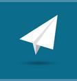 origami plane paper airplane symbol vector image