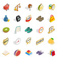 perfection of body icons set isometric style vector image