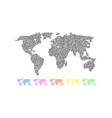 set of colored world maps vector image