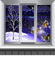 View from window of landscape Winter vector image