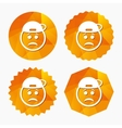 Sad rapper face sign icon Sadness symbol vector image