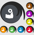 Arm muscle with dumbbell in hand icon sign Symbols vector image