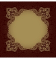 Dark red patterned background vector image vector image