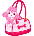 cute pink poodle vector image