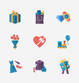 gift modern colorful shop icons on white vector image