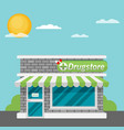 facade of pharmacy store flat vector image