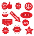 Red labels vector image