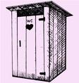 rural wooden outdoor toilet vector image
