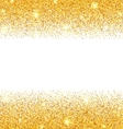 Abstract Golden Sparkles on White Background Gold vector image