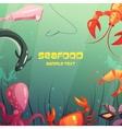 Seafood Cartoon vector image