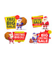 christmas sale banner template with santa claus vector image