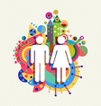 Couple icon man and woman concept vector image