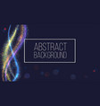 glow smoky waves background curved pattern flow vector image