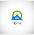 home solar summer logo vector image