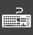 keyboard solid icon button and device vector image