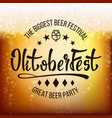 oktoberfest beer background beer foam vector image