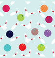 seamless background with bowls and bowling balls vector image