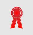 Ribbon award icon red vector image