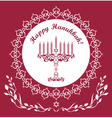 Jewish Hanukkah holiday background vector image