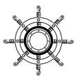 steering wheel ship vector image