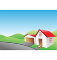 house and garage vector image vector image
