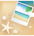 vacation background vector image vector image
