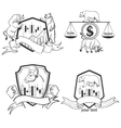 Set of Finance forex Labels Logo emblems and vector image