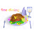 fine dining vector image vector image