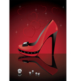 red shoe vector image vector image