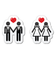 Gay marriage labels vector image vector image