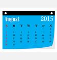 Calendar August 2015 vector image