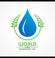 Creative World Environment Day Greeting vector image