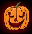 happy halloween pumpkin hand drawn sketch vector image