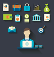 Infographic concepts of businessman with business vector image