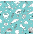 Sea life seamless pattern Underwater endless vector image