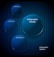 blue glass circles infographic vector image