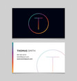 business-card-letter-t vector image vector image