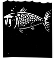 Fish Face vector image vector image