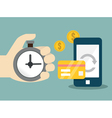 Flat concept of mobile banking and online payment vector image