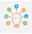 Modern infographic network template Idea Lightbulb vector image