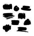 Hand drawn black paint brush frames vector image