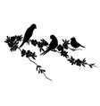 birds silhouette - 6 different vector image