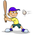 boy playing baseball vector image