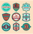 extreme surfing camp vintage isolated label set vector image