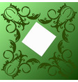 green card with swirls vector image