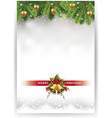 merry christmas banner with decorations vector image